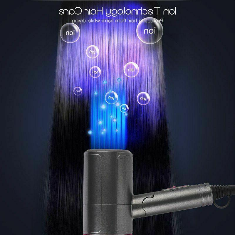 Foldable Hair Portable Low Noise Ions Travel Blower