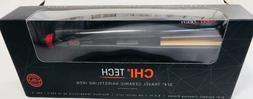 """CHI TECH 3/4"""" TRAVEL BLACK CERAMIC HAIRSTYLING IRON-NEW IN B"""
