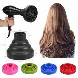 Universal Travel Folding Silicone Hair Dryer Blower Hood Dif